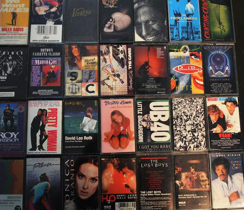 Cassette Tapes List 280's-90's Rock Soundtracks image 0