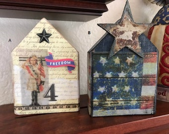 Patriotic Wooden Houses