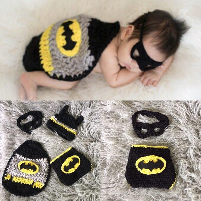 Sofort lieferbar Häkeln Sie Neugeborenen Batman Foto Prop   Etsy