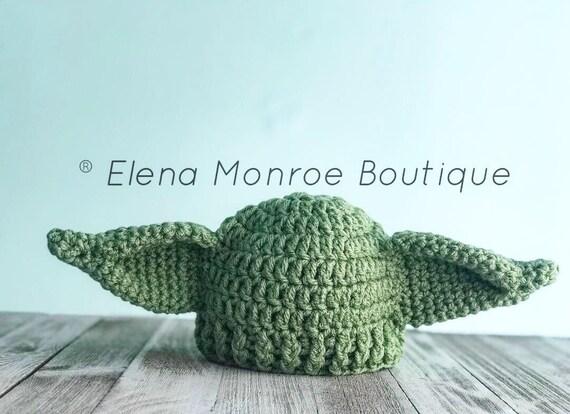 Häkeln Yoda inspiriert Mütze unteren alien Hut Yoda | Etsy