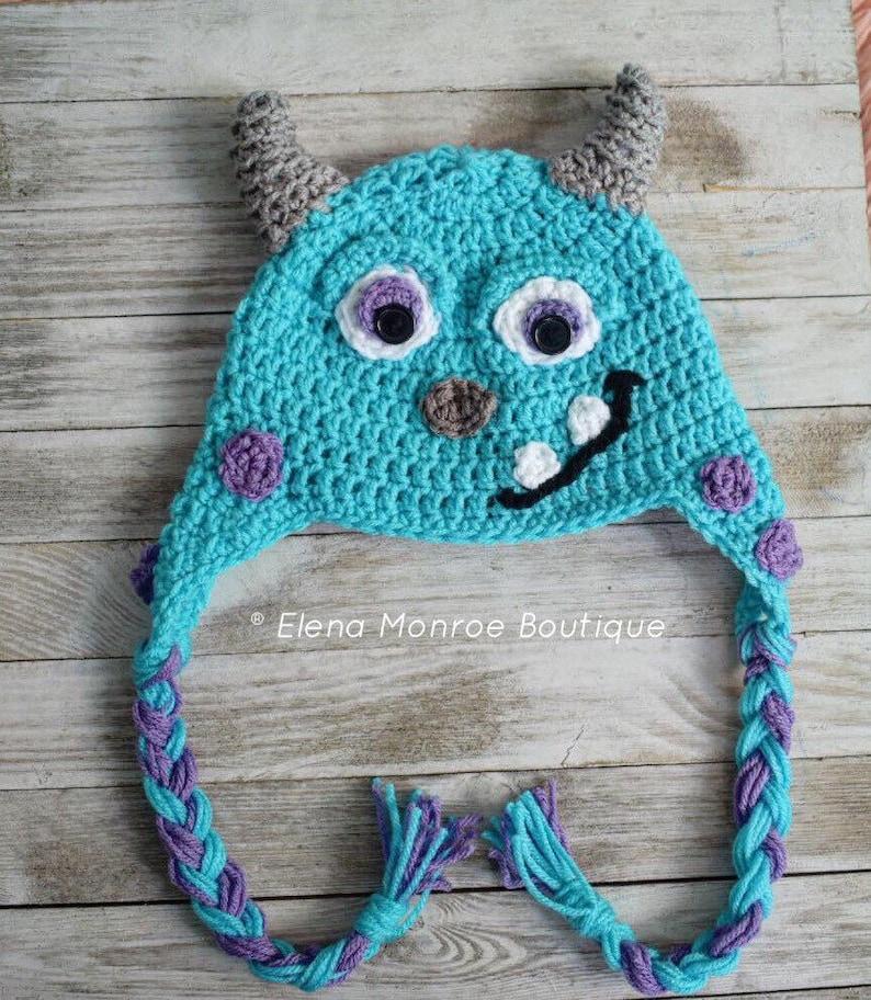 74016cefaee Crochet Monster hat baby monster hat sullivan hat sully