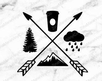 Pacific Northwest Decal Only - PNW Vinyl Decal Only - PNW Decal For Water Bottle - PNW Car Decal - Pacific Northwest Decal Only