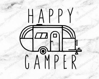 Happy Camper Decal - RV Decal - Camper Decal - Happy Camper Vinyl Decal