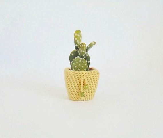 Kaktus Künstliche Blumen Miniatur Blume Häkeln Etsy