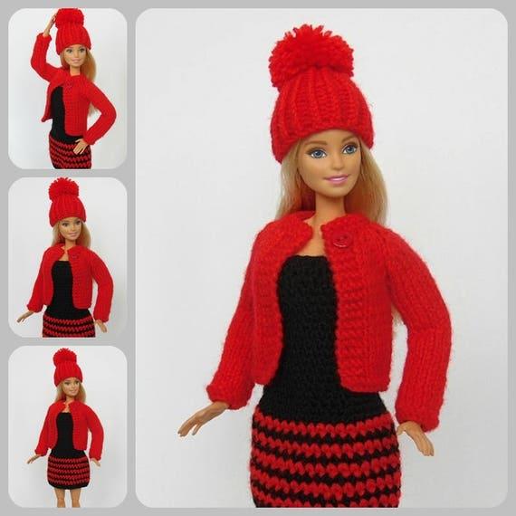 Barbie Puppe Kleid Jacke Hut Barbie Kleidung Barbie Etsy