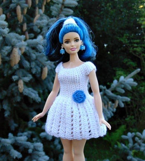 Barbie Puppe Kleid Kurvige Barbie Puppe Häkeln Kleid Etsy
