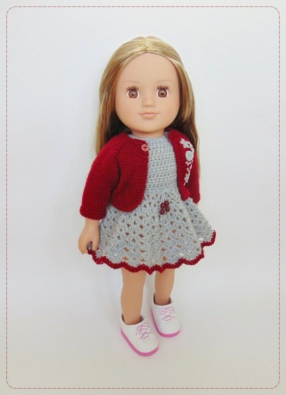 """Fits 18/"""" American Girl  Fashion Doll Clothes Dress Christmas Outfits Xmas Gift"""