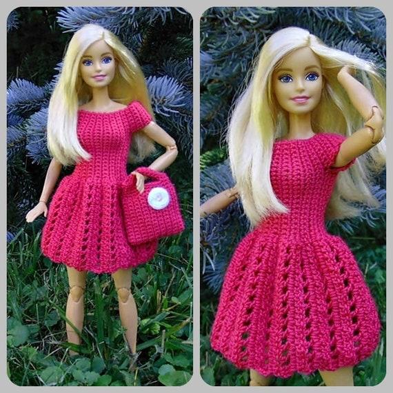 Barbie Puppenkleid Häkeln Barbie Puppe Puppe Geldbeutel Etsy