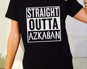 e31b7c0c9 Straight Outta Azkaban Movie Inspired. Male and Female T-shirt