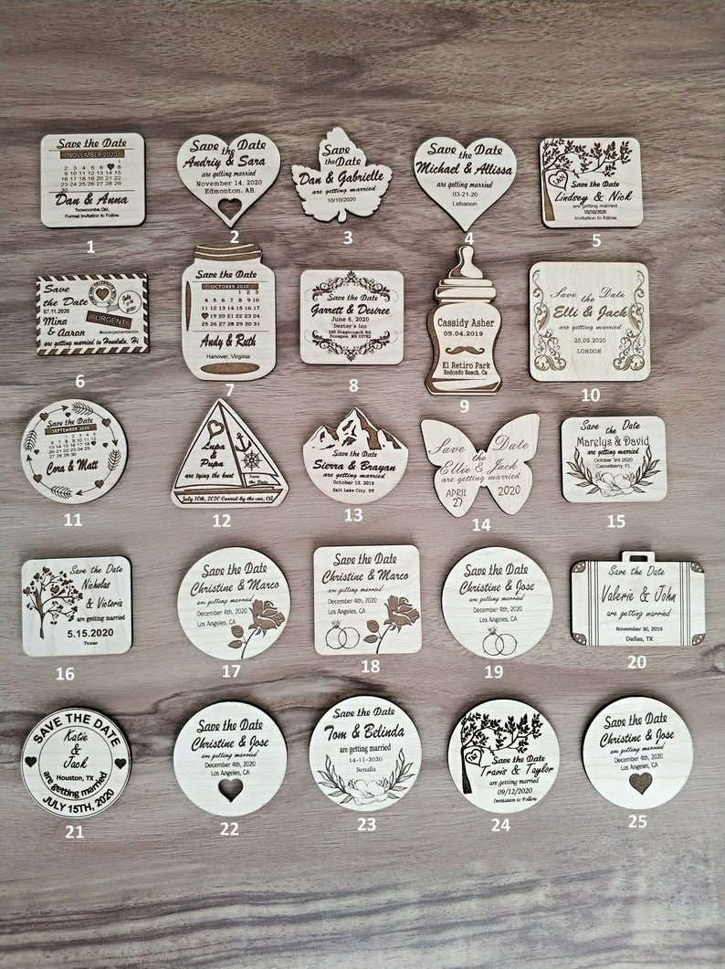 Save/Change The Date Magnets Personalized / Customized / image 0