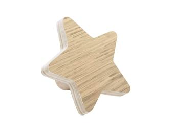 Patère child star Oak / child coat holder / child wood patère / La Cabane de Bois
