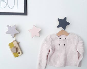 Peg child star wooden kids coat rack