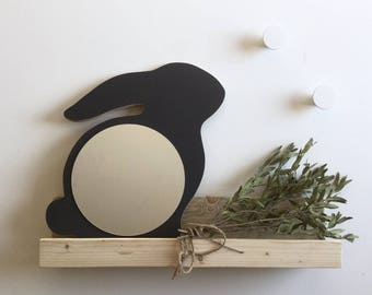 Mirror rabbit model Anthracite