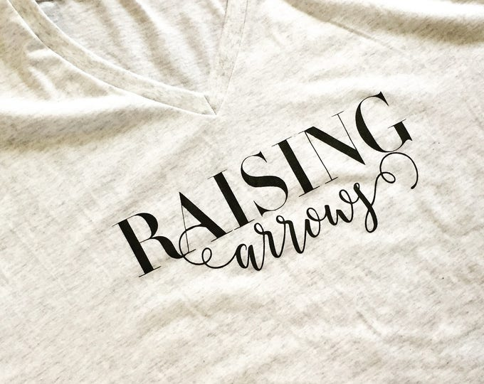 Raising Arrows V-Neck Cursive