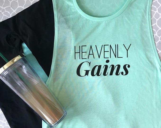 Heavenly Gains Flowy Muscle Tank