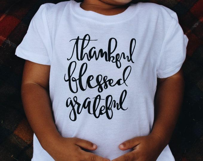 Thankful Blessed Grateful (Kids)