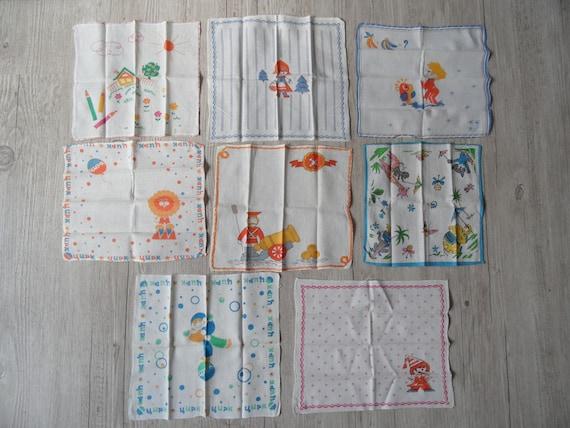 Table decor white flower handkerchief from USSR