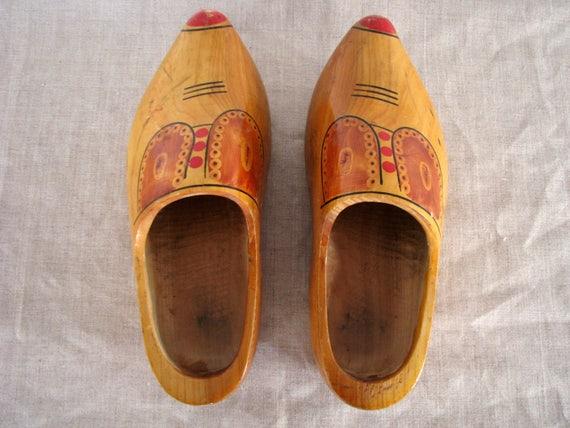 Souvenir from Gland wooden shoe Scandinavian vintage wall decor Shoe brush