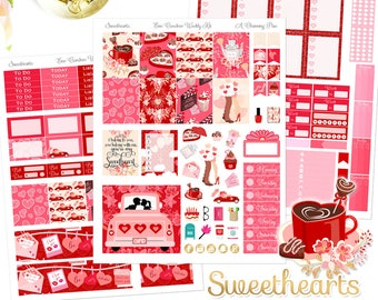 Sweethearts - Printable Planner Stickers - Instant Download