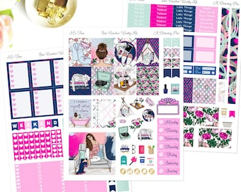 Me Time - Printable Planner Stickers - Instant Download