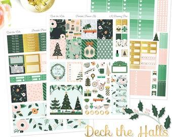 Deck the Halls - Printable Planner Stickers - Instant Download