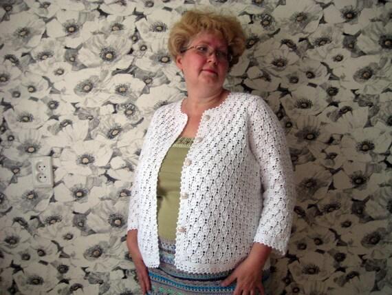 Damen Strickjacke häkeln Spitze Strickjacke Strickjacke | Etsy