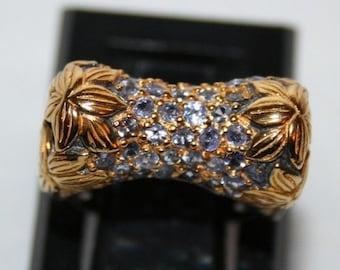 Ring in Sterling Silver 925/1000, genuine tanzanite