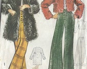 1970s Vintage Sewing Pattern B34-36-38-40 PANTS COAT (R699) By Maudella 5794