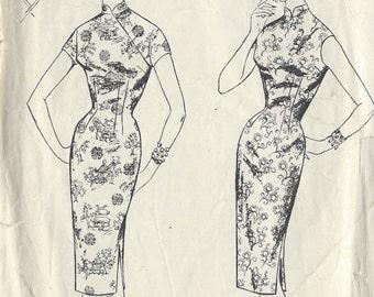 Años 50 Vintage patrón de costura B32 Vestido 1372