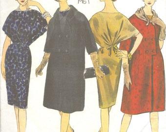 Vogue Paris Original Vintage 60s Gres Inset Waist Cinched Cocktail Dress Designer Sewing Pattern 1443 B36 UNUSED