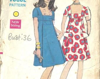 79f0a605d3 1969 Vintage VOGUE Sewing Pattern B36