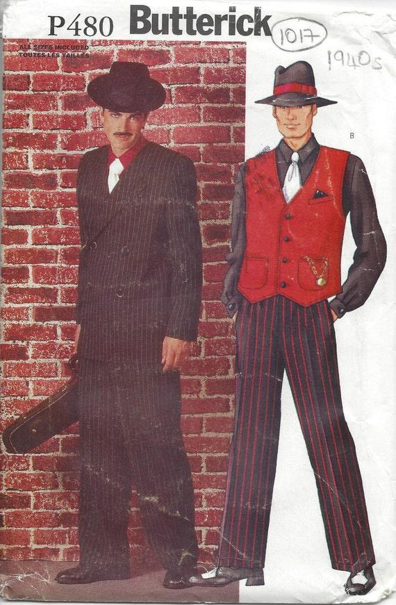 1940s Vintage VOGUE Sewing Pattern Chest 38-40-42 MEN/'S ZOOT SUIT R827