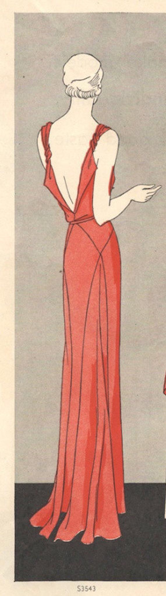 20 Vintage VOGUE Schnittmuster B20 Kleid R20 Vogue 20   Etsy