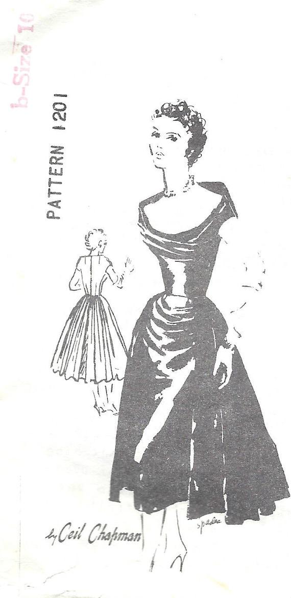 1950s Vintage Sewing Pattern B34 DRESS 1369 By Ceil Chapman | Etsy