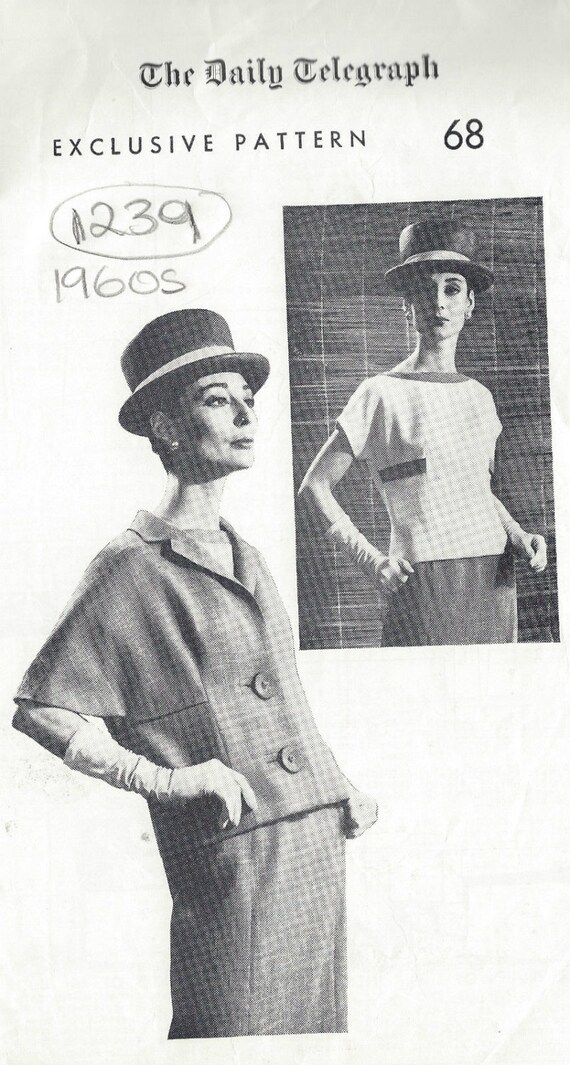 1960s Vintage Sewing Pattern B36 Skirt Jacket Blouse 1239 | Etsy