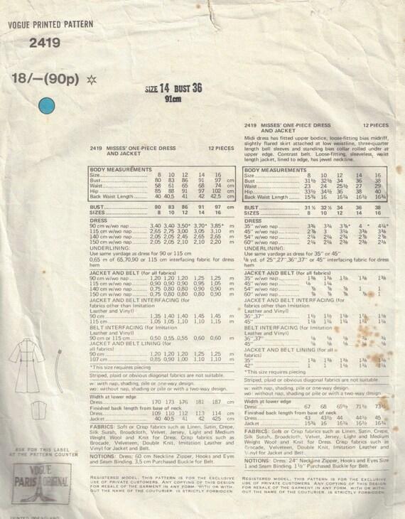 Década de 1940 Blusa con tres atuendos patrón de costura-Busto 34 estilo 4690