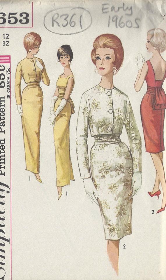 1960s Vintage Sewing Pattern B32 Dress JACKET & | Etsy