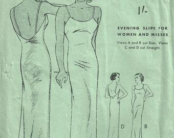 "1930s Vintage Sewing Pattern B36"" SLIP (1664)  Butterick 5978"