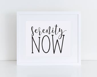 Serenity Now Seinfeld Quote - 8x10 INSTANT DOWNLOAD, DIGITAL Print