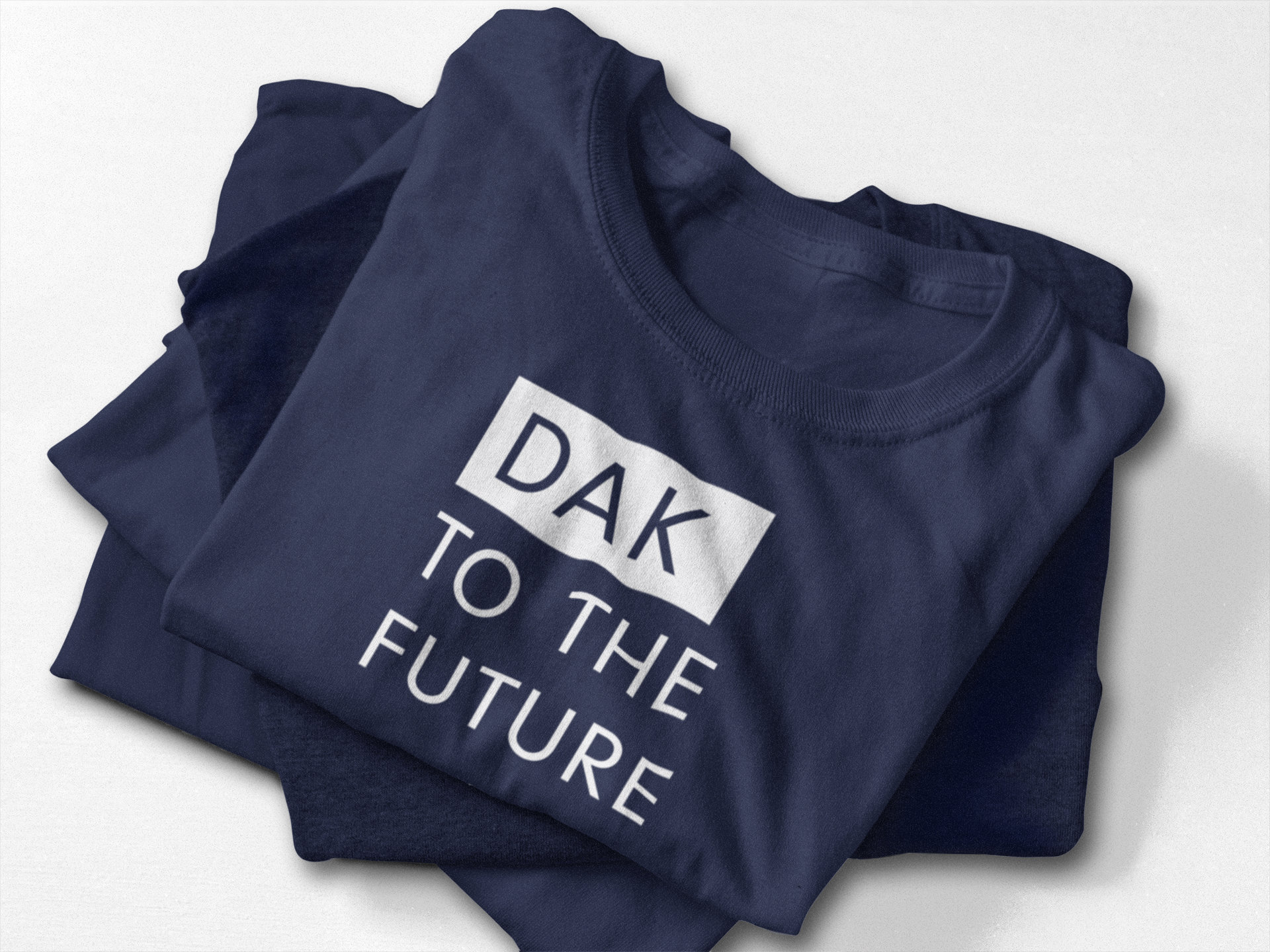 2d0bd27b320 Dak To The Future Funny Dallas Cowboys   Dak Prescott Shirt  Navy