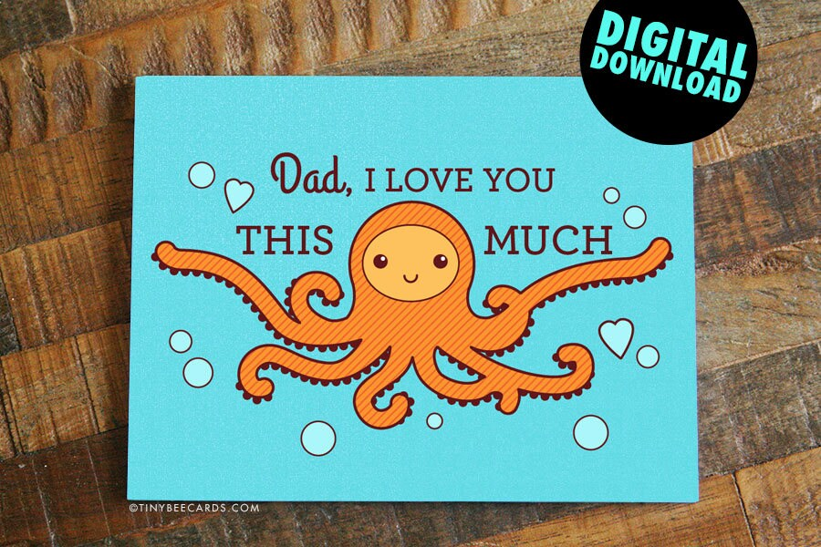 Printable Fathers Day Card Or Dad Birthday