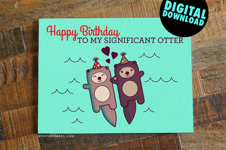 Funny Printable Birthday Card For Boyfriend Girlfriend