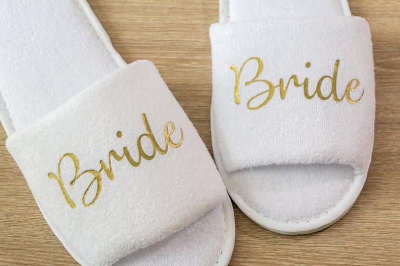 7ff2f12937f7 Bridesmaid Slippers Personalised Wedding Slippers Bridesmaid