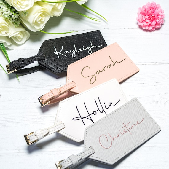 Bride Gift Hen Party Destination wedding Bridesmaid Gifts Personalised Luggage Tag Name Luggage Tag