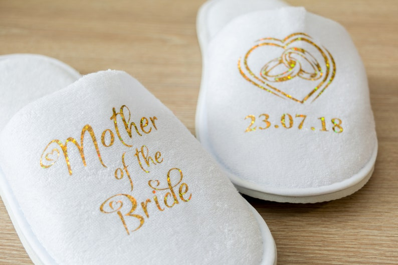 515b3c54b Mother of the Bride Personalised Wedding Slippers Bride