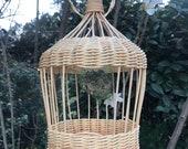 Diy basketry kit for beginners feeder rattan gift diy tuto bird feeder basketry basket kit Wicker