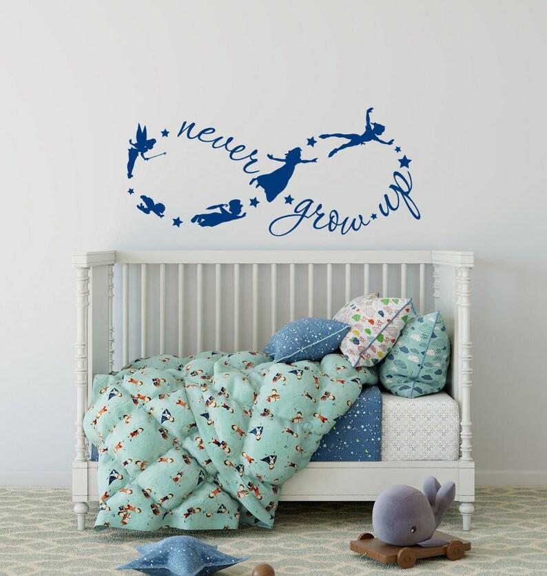 Kinderzimmer Wandtattoo nie erwachsen werden Peter Pan Sprüche | Etsy