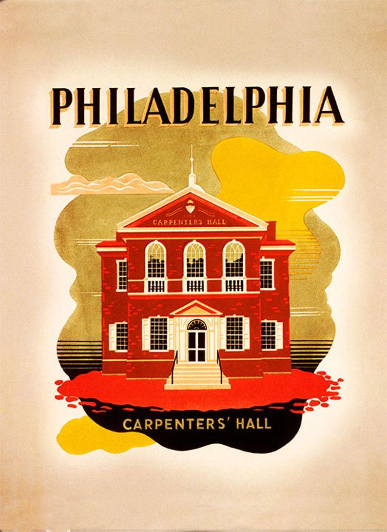 handmade historical Philly nightlight vintage home lighting table lamp living room tourism Philadelphia Carpenters hall