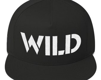 Wild Flat Bill Embroidered Cap