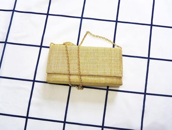 """Vintage 60s """"Belinda"""" Gold Lurex Evening bag"""